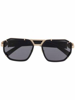 Солнцезащитные очки-авиаторы Versace Eyewear. Цвет: черный