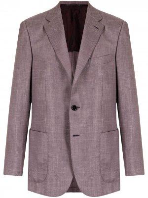 Кашемировый пиджак Brioni. Цвет: красный