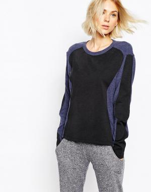 Джемпер с длинными рукавами и полосками LnA. Цвет: темно-синий и черный