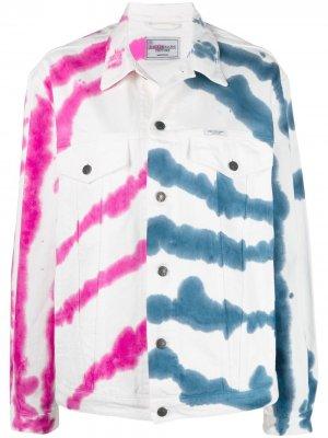 Джинсовая куртка с принтом тай-дай Forte Dei Marmi Couture. Цвет: белый