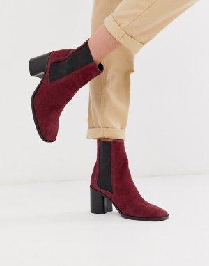 Фиолетовые замшевые ботинки челси Reverse-Фиолетовый ASOS DESIGN