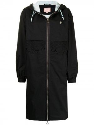Floral-embroidered parka coat BAPY BY *A BATHING APE®. Цвет: черный