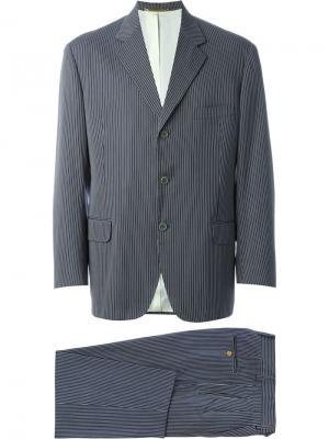 Полосатый костюм Moschino Vintage. Цвет: чёрный