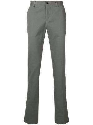 Классические брюки кроя слим Etro. Цвет: серый