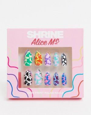 Накладные ногти с анималистичным рисунком X Alice MC-Мульти The Shrine