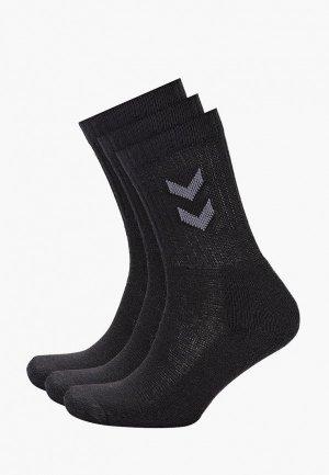 Носки 3 пары Hummel 3-Pack Basic Sock. Цвет: черный