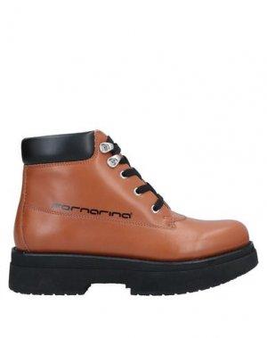 Полусапоги и высокие ботинки FORNARINA. Цвет: желто-коричневый