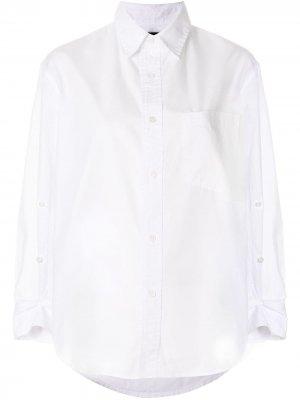 Рубашка с пуговицами на рукавах Citizens of Humanity. Цвет: белый