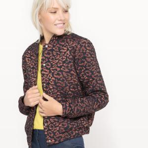 Куртка-бомбер из жаккарда с леопардовым принтом ме LA REDOUTE COLLECTIONS. Цвет: жакард