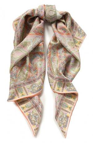 Шелковый платок Michele Binda. Цвет: розовый
