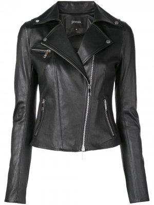Байкерская куртка Rider Jitrois. Цвет: черный