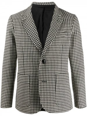 Пиджак на двух пуговицах с накладными карманами AMI Paris. Цвет: черный