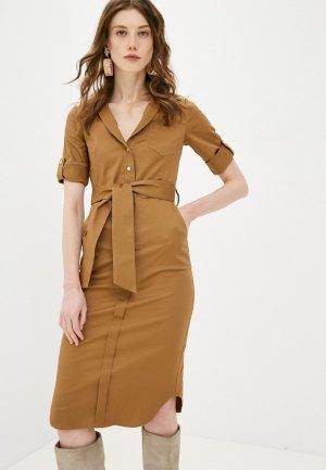 Платье Katya Erokhina Jean Brown. Цвет: коричневый