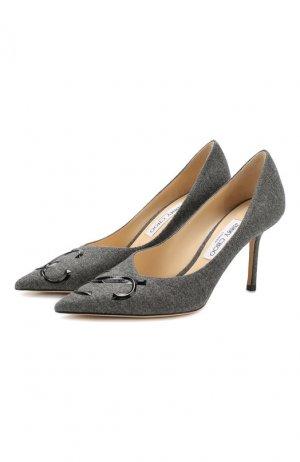Текстильные туфли Love 85 Jimmy Choo. Цвет: темно-серый