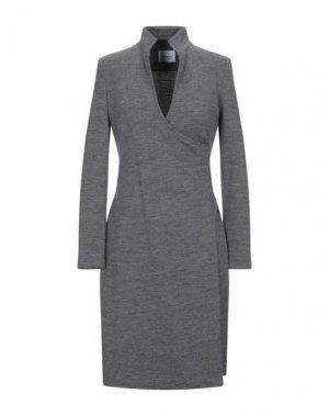 Короткое платье AKRIS PUNTO. Цвет: серый