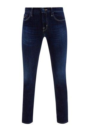 Зауженные джинсы кроя Kimberly из ароматизированного денима JACOB COHEN. Цвет: синий