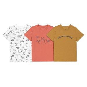 Комплект из 3 футболок с LaRedoute. Цвет: бежевый