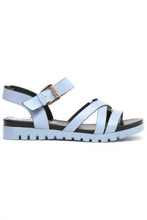 Туфли летние открытые Daze. Цвет: голубой