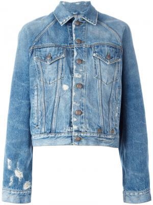 Джинсовая куртка Brunel R13. Цвет: синий