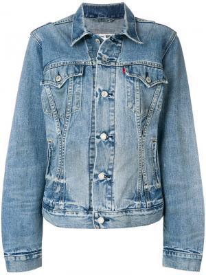 Приталенная джинсовая куртка Re/Done. Цвет: синий