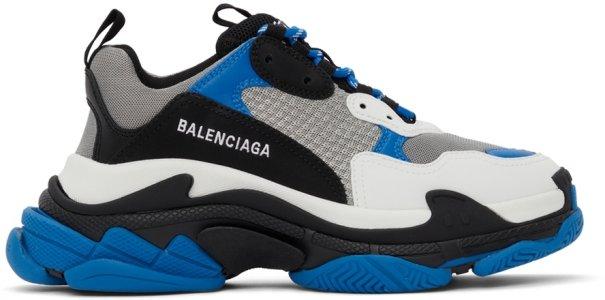 Blue & Black Triple S Sneakers Balenciaga. Цвет: 4124 blue