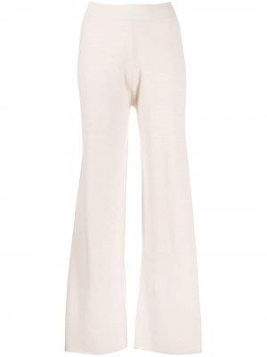 Трикотажные брюки с завышенной талией Allude. Цвет: розовый