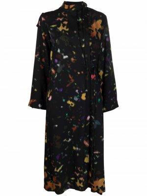 Abstract-print shirt dress Kenzo. Цвет: розовый