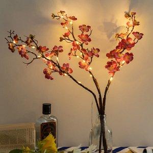 1шт Декоративный свет в форме цветка SHEIN. Цвет: жёлтые