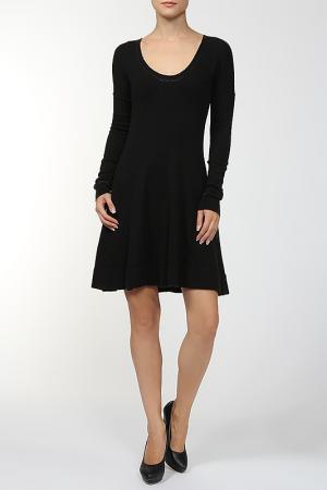 Платье вязаное AMERICAN RETRO. Цвет: черный