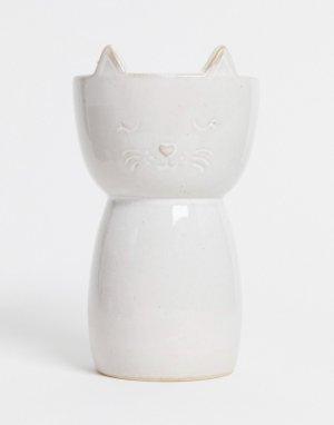 Ваза в форме кошки -Белый Sass & Belle