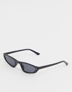 Черные солнцезащитные очки в квадратной оправе -Черный AJ Morgan