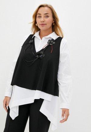 Комплект Verda блуза, жилет, ожерелье. Цвет: разноцветный