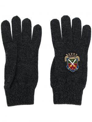 Перчатки Heraldic Sicilia Dolce & Gabbana. Цвет: серый