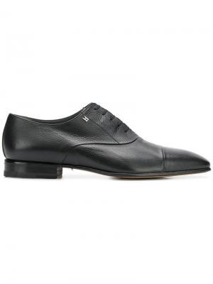 Туфли дерби с квадратным носком Moreschi. Цвет: черный