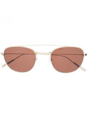 Солнцезащитные очки Cesare Epos. Цвет: золотистый