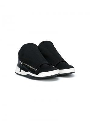 Кроссовки с двойной молнией Cinzia Araia Kids. Цвет: черный