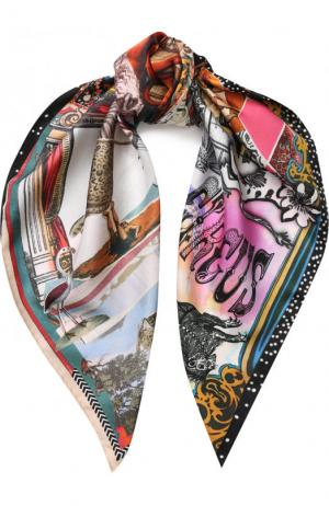 Шелковый платок с принтом Christian Lacroix. Цвет: разноцветный