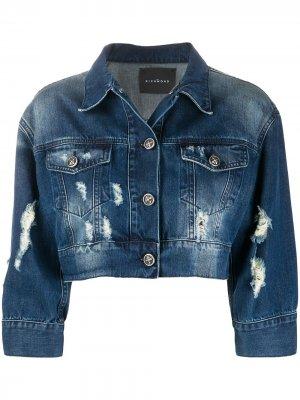 Укороченная джинсовая куртка John Richmond. Цвет: синий