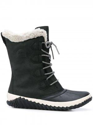 Ботинки Out N About со шнуровкой SOREL. Цвет: черный