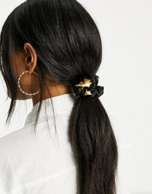 Резинка для волос со сплошным принтом ангелов -Серый Fiorucci