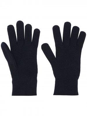 Перчатки в рубчик Moncler. Цвет: синий