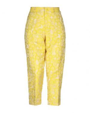 Брюки-капри PT01. Цвет: желтый