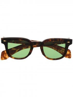 Солнцезащитные очки в квадратной оправе Jacques Marie Mage. Цвет: коричневый