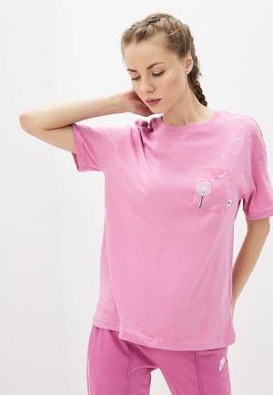 Футболка Nike W NSW TEE NOVEL-TEE 2 PKT. Цвет: розовый