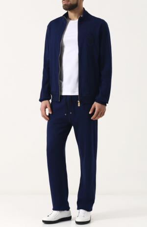 Хлопковый спортивный костюм Billionaire. Цвет: темно-синий
