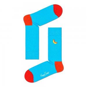 Embroidery Hot Dog Sock Happy Socks. Цвет: голубой