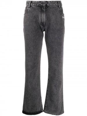 Укороченные джинсы Off-White. Цвет: серый