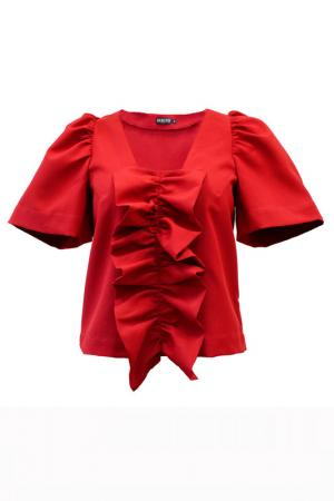 Блуза BERTEN. Цвет: красный