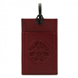 Кожаный футляр для кредитных карт Alexander McQueen. Цвет: красный
