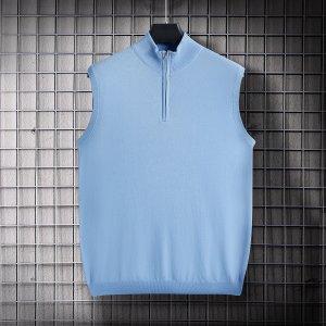 Мужской жилет-свитер SHEIN. Цвет: нежно-голубой